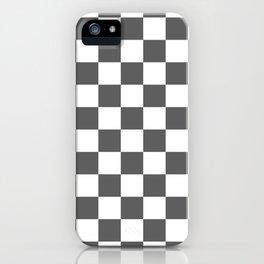 Checkered - White and Dark Gray iPhone Case