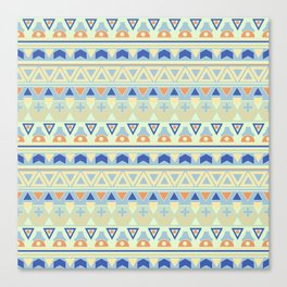 Ethnic , tribal , pastel Canvas Print