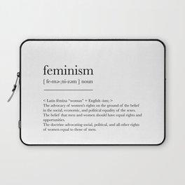 Feminism, dictionary definition Laptop Sleeve
