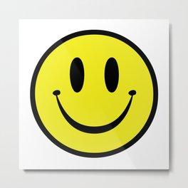 Rave Smile Metal Print