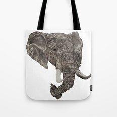 Street Elephant Tote Bag