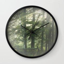 Cometh the fog Wall Clock