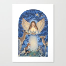 Woodland Angel Canvas Print