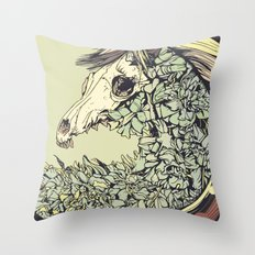 Beautiful Horse Old Throw Pillow