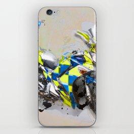 Police Motorbike -Yamaha FJR 1300 iPhone Skin