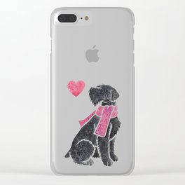 Watercolour Giant Schnauzer Clear iPhone Case
