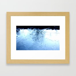ice flowers Framed Art Print
