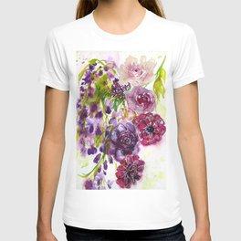 purple floral dream T-shirt