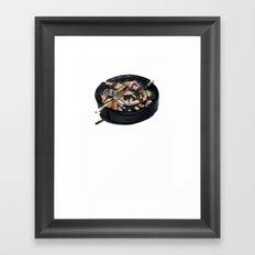 writer's ashtray Framed Art Print