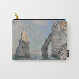 The Rock Needle and the Porte d'Aval by Claude Monet Carry-All Pouch