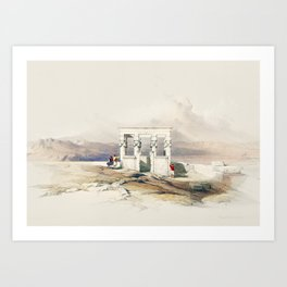 Temple of Isis, Egypt (1849) Art Print