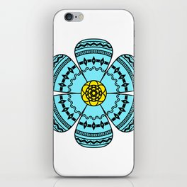 Hippie Geometric Flower iPhone Skin