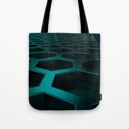 Brushed metal hexagon grille Tote Bag