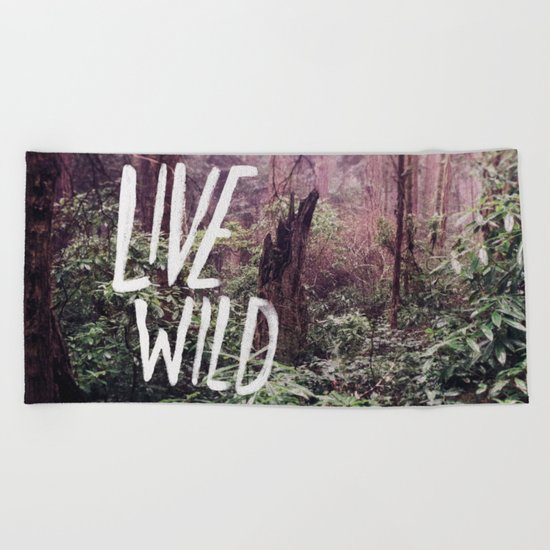 Live Wild: Oregon Beach Towel