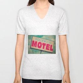 The Hollywood No-Tell Motel Unisex V-Neck
