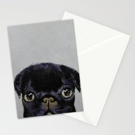 Black Pug Stationery Cards