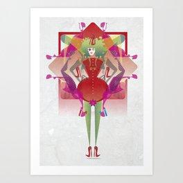 The Queen of Legs Art Print