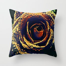 Rose with tears crossing Throw Pillow
