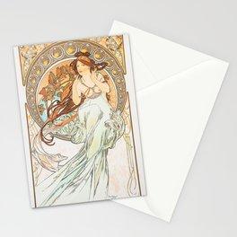 Alphonse Mucha Music Art Nouveau Stationery Cards