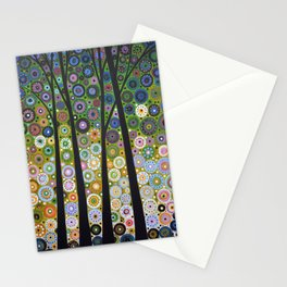 Abstract Art Landscape Original Painting ... Falling Light Stationery Cards