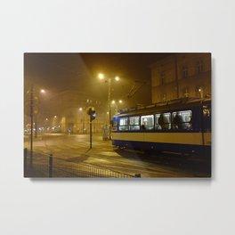 Night-time in Krakow 1 Metal Print