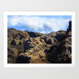 Minature Rock Landscape Art Print