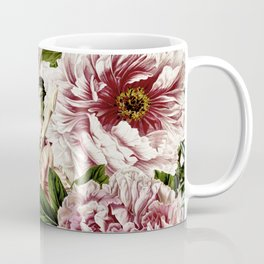 Vintage Peony and Ipomea Pattern - Smelling Dreams Coffee Mug