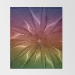 The Life of Colors Throw Blanket