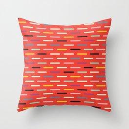 Modern Scandinavian Dash Red Throw Pillow