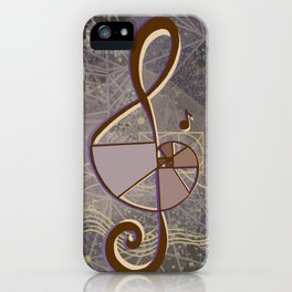 vintage music geometry iPhone Case