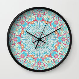 BOHO SUMMER JOURNEY MANDALA Wall Clock