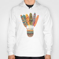 rustic Hoodies featuring Rustic shuttlecock by Picomodi