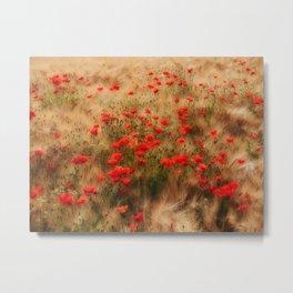 red poppy field Metal Print