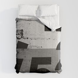 GRUNGE TECHNO V52m Typography | smoke grey black Comforters