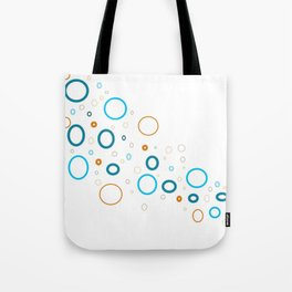 Blue shades with complimentary color of orange shades Tote Bag