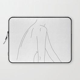 Nude back line drawing - Ama Laptop Sleeve