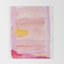 180815 Watercolor Rothko Inspired 10| Colorful Abstract | Modern Watercolor Art Throw Blanket