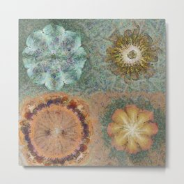 Unmorosely Rhythm Flower  ID:16165-030413-53640 Metal Print