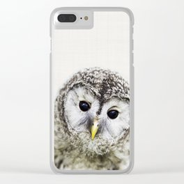 Owl Print, Nursery Wall Art, Woodlands Animal Print, Nursery Decor, Forest Animal Clear iPhone Case