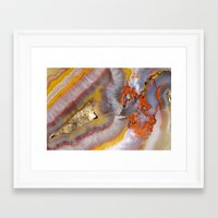 agate Framed Art Prints featuring agate by Cm1003