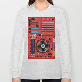 Computer Motherboard Electronics. Long Sleeve T-shirt