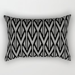 Grey Black triangles pattern geometry Rectangular Pillow