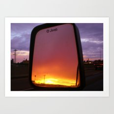 Objects in the mirror Art Print