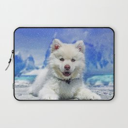 Winter Snowdog Laptop Sleeve