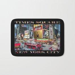 Times Square II (widescreen on black) Bath Mat