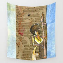 CarbonCard Bass Girl Wall Tapestry
