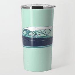 Wood Boat - Lake Life - Susanne Johnson Art Travel Mug