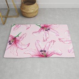 Pink Lilium Rug