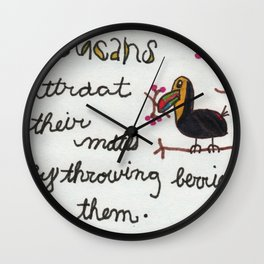The Tormented Toucan Wall Clock