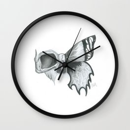 Skull and Butterfly Wall Clock